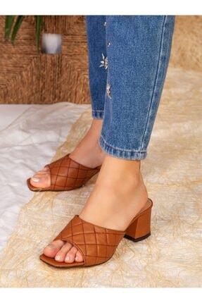 ayakkabıhavuzu Kadın Taba Topuklu Terlik