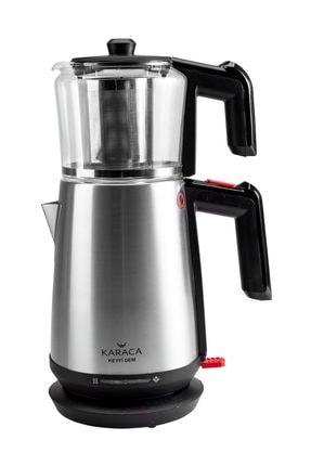 Karaca Keyfi Dem Cam Demlikli Çay Makinesi İnox