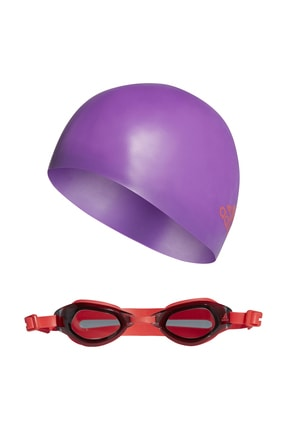 adidas Kız Çocuk  Bone & Deniz Gözlüğü - Swim Seti - DQ1712