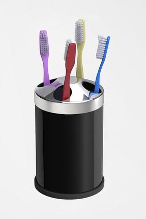 Alper Banyo Siyah Tezgah Üstü Diş Fırçalık ( Metal )