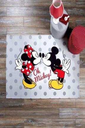 Taç Lisanslı Çocuk Odası Halısı-Disney Minnie&Mickey 80x140 cm 60143347