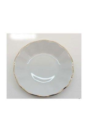 Porland Porselen Altın Yaldızlı Çay Tabağı Desenli Çay Tabak