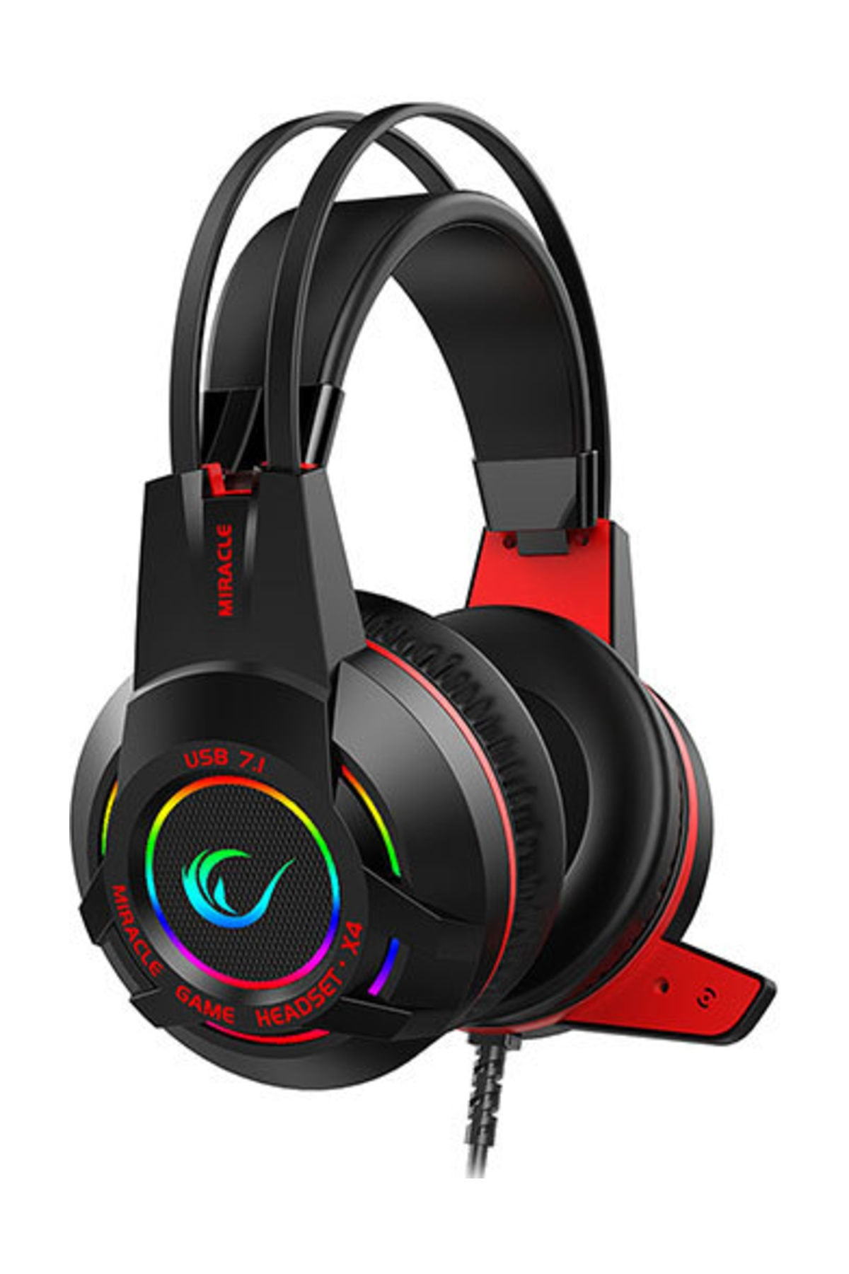Rampage Miracle-X4 Siyah RGB Led 7.1 Mikrofonlu Oyuncu Kulaklığı 1