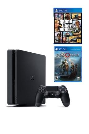 Sony Playstation 4 Slim 500 GB + PS4 GTA 5 + PS4 God Of War
