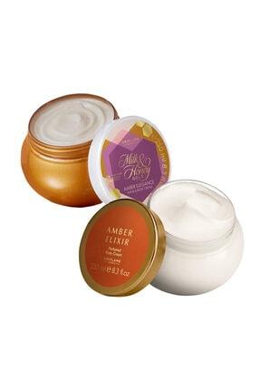 Oriflame Milk & Honey Amber Elegance Losyon - Amber Elixir Losyon 2'li Set