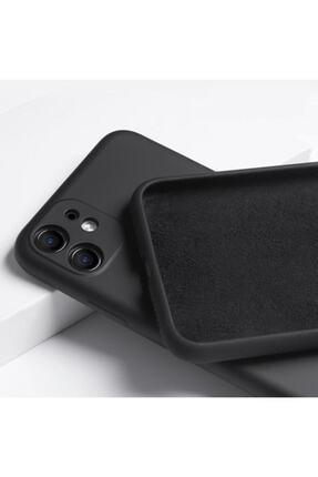 """Teknoçeri Iphone 11 6.1"""" 3d Kamera Korumalı Içi Kadife Lansman Silikon Kılıf"""