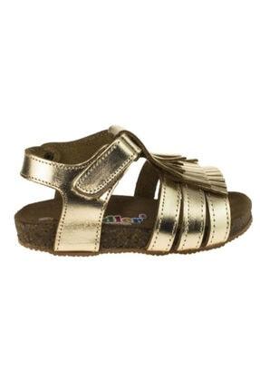 Toddler 01318 Doğal Deri ,anatomik Mantar Taban Beyaz Sandalet 26