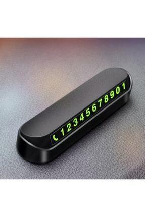 GoodSell Araba Park Numaratörü Araç Içi Torpido Üstü Açılır Kapanır Neon Telefon Numarası Bırakma