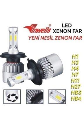 Inwells H7 Yeni Nesil Metal Turbo Led Xenon Ampul Seti 6500K