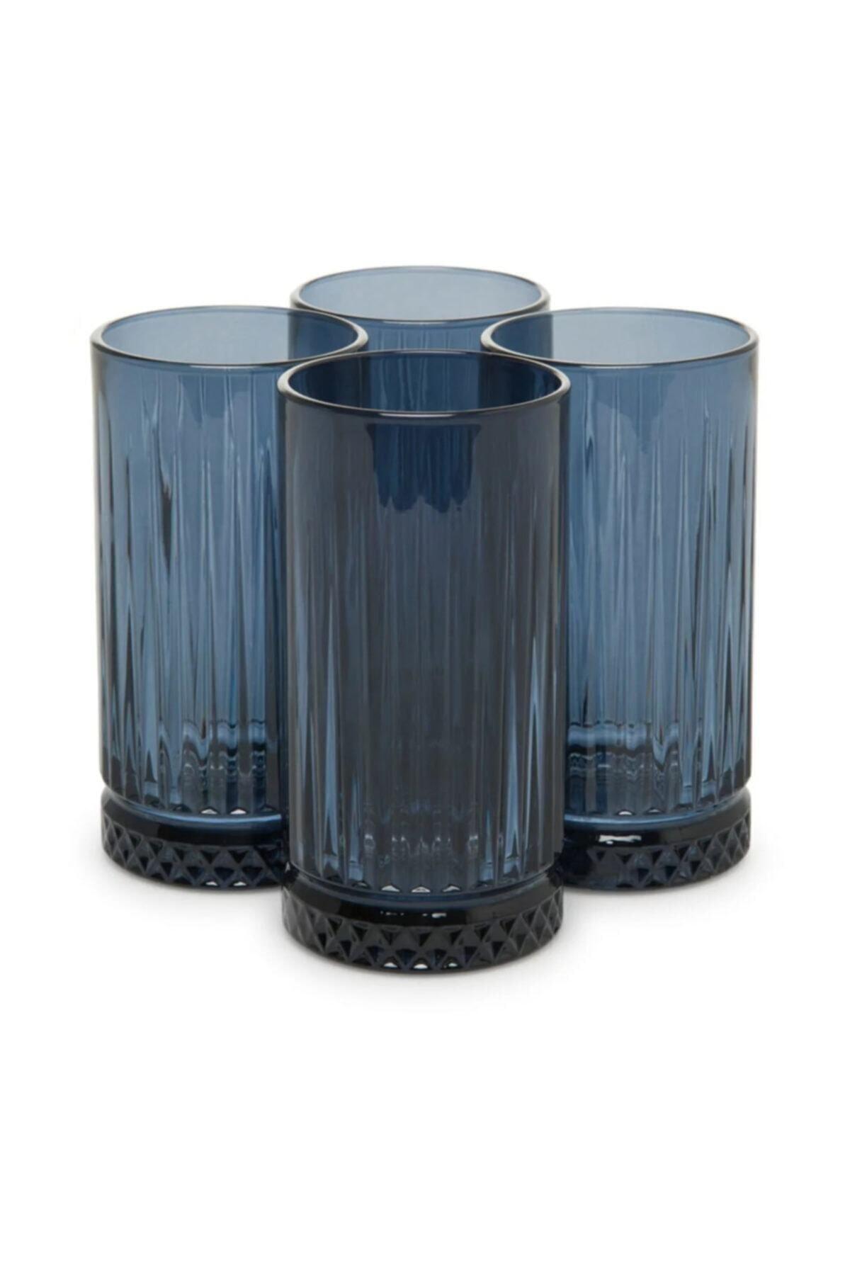 Paşabahçe Elysia 455 Cc Mavi 4'lü Meşrubat Bardağı 1