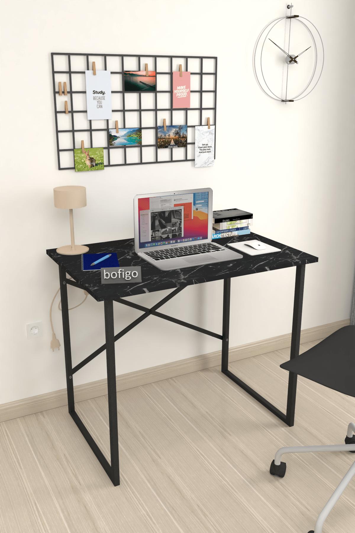 Bofigo 60x90 cm Çalışma Masası Laptop Bilgisayar Masası Ofis Ders Yemek Cocuk Masası Bendir 1