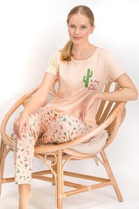Arnetta Cactus Somon Kadın Pijama Takımı