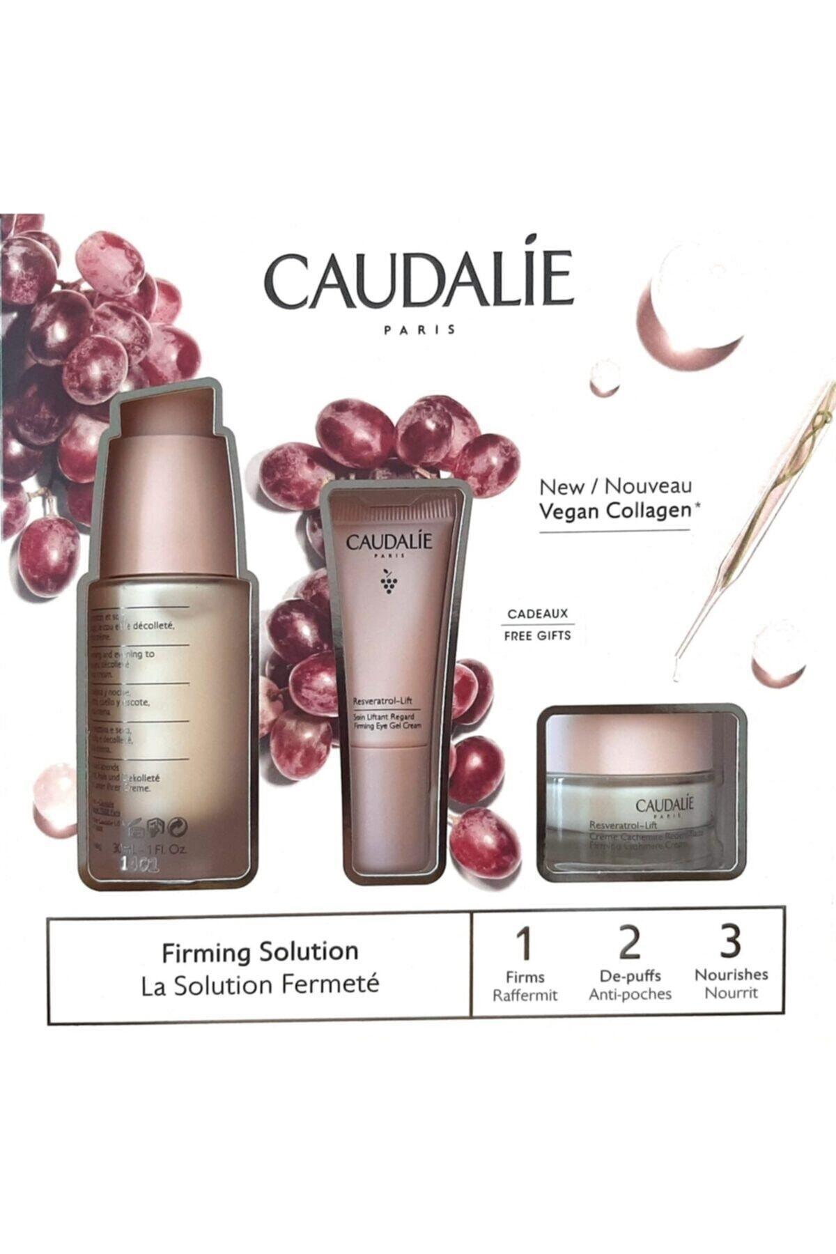 Caudalie Resveratrol Lift Set-ınstant Firming Serum 30 Ml + Firming Eye Gel Cream 5 Ml+ Firming Cash 1