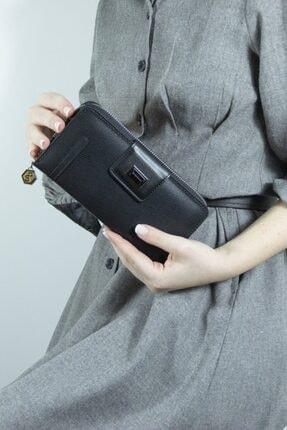 Silver Polo Siyah Üç Bölmeli Kadın Cüzdan & Kartlık Sp683