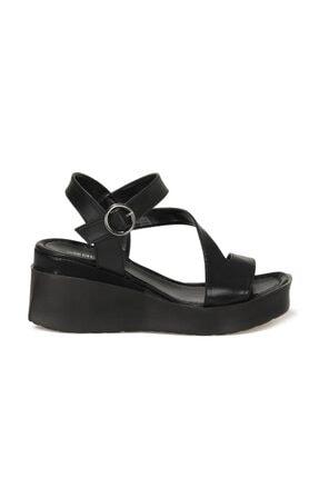 Butigo LOUİSE 1FX Siyah Kadın Dolgu Topuklu Sandalet 101061755