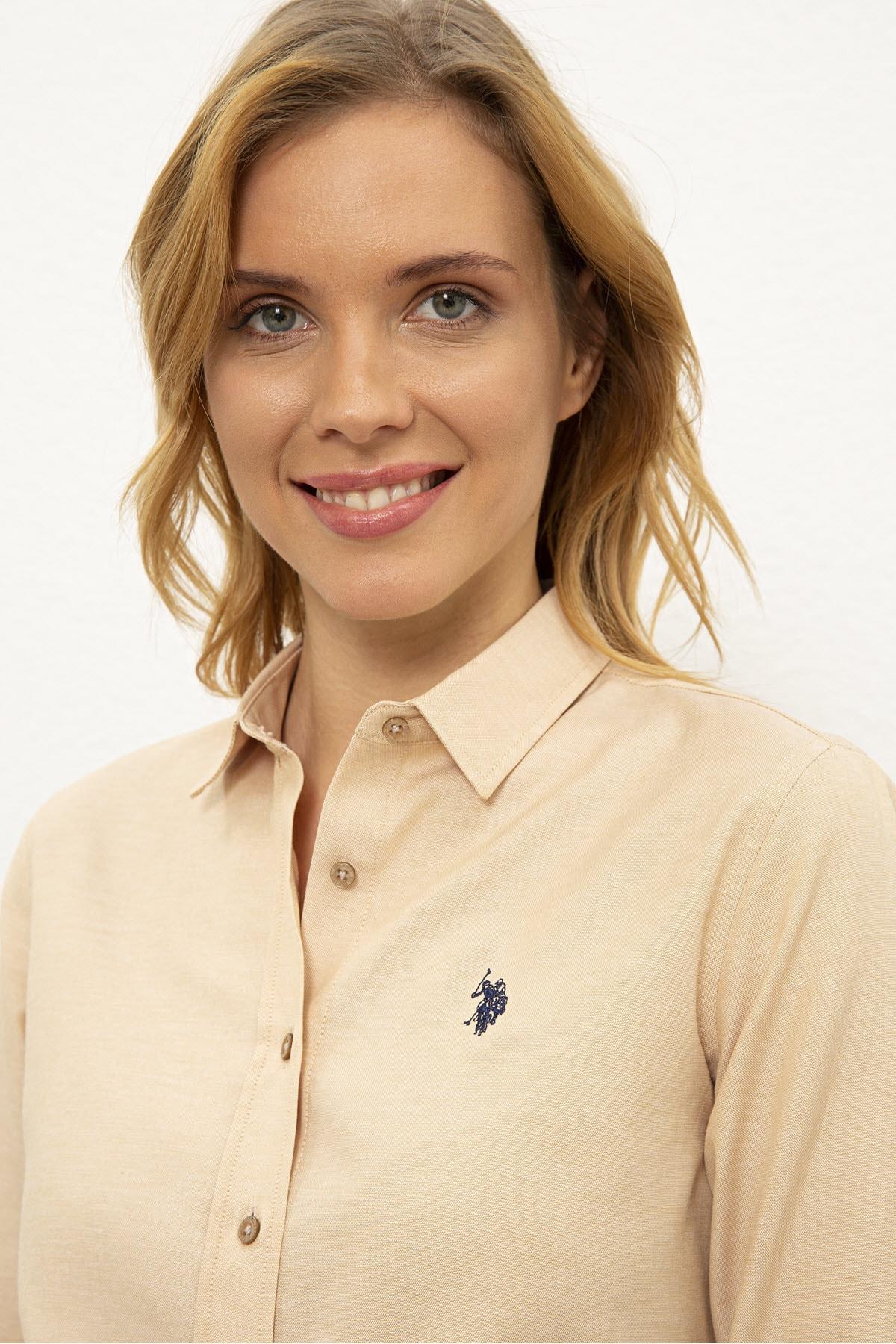 U.S. Polo Assn. Kahverengı Kadın Dokuma Gömlek G082Gl004.000.1261820 2