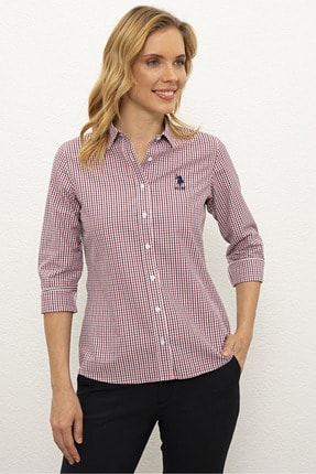 U.S. Polo Assn. Kırmızı Kadın Dokuma Gömlek G082Sz004.000.1193774