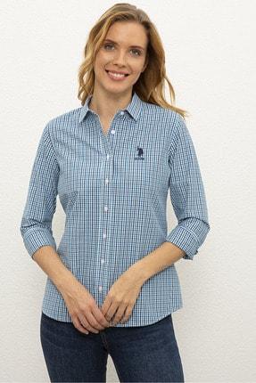 U.S. Polo Assn. Mavı Kadın Dokuma Gömlek G082Sz004.000.1193774