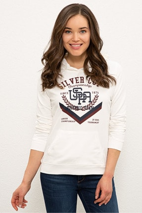 U.S. Polo Assn. Ekru Kadın Sweatshirt G082SZ082.000.1210669