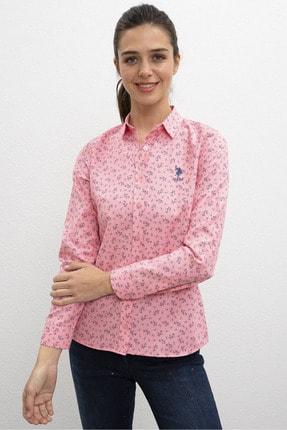 U.S. Polo Assn. Pembe Kadın Dokuma Gömlek