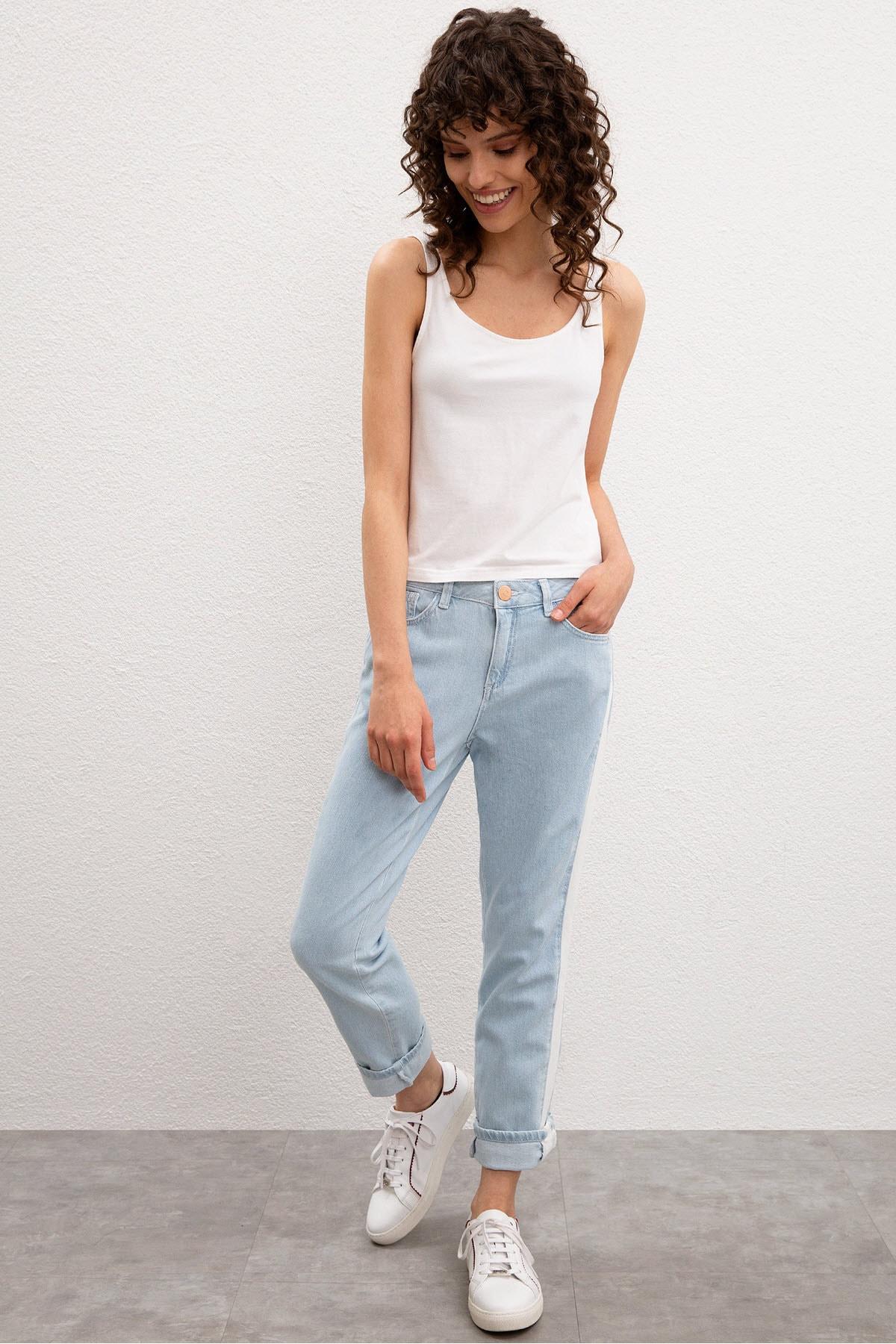 U.S. Polo Assn. Mavi Kadın Denim Pantolon 1