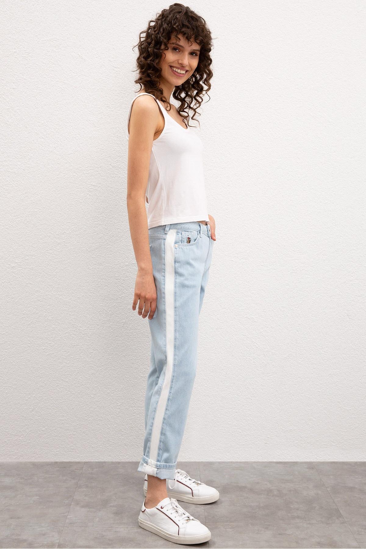 U.S. Polo Assn. Mavi Kadın Denim Pantolon 2