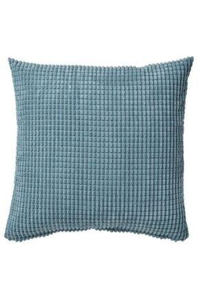 IKEA Minder Kırlent Yastık Kılıfı Fermuarlı Açık Mavi Renk Meridyendukkan 50x50 Cm
