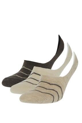 DeFacto Erkek Desenli 3'lü Babet Çorabı