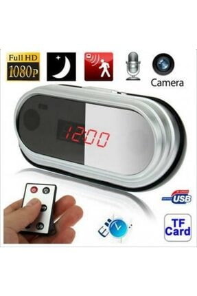 Filonline Gizli Cam Kamera Masa Saati Kumandalı Ses Kayıt+tfotoğraf+video Alarm Bildirimli Masa Saati