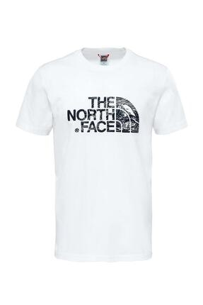 THE NORTH FACE M S/S WOODCUT DOME TEE Beyaz Erkek T-Shirt 100407694