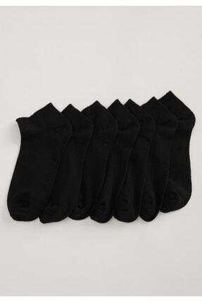 DeFacto Kadın Siyah 7'li Patik Çorap