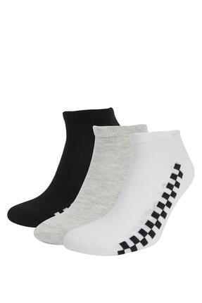 DeFacto Desenli 3'lü Patik Çorap