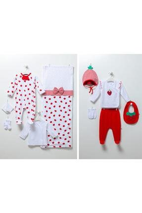 Caramell Unisex Bebek Çilekli  Set 10lu