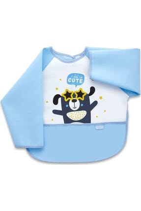 Babyjem Baby Jem Poli Muşamba Kollu Mama Önlüğü (NOT: ÖNÜ ASLAN DESENLİDİR)