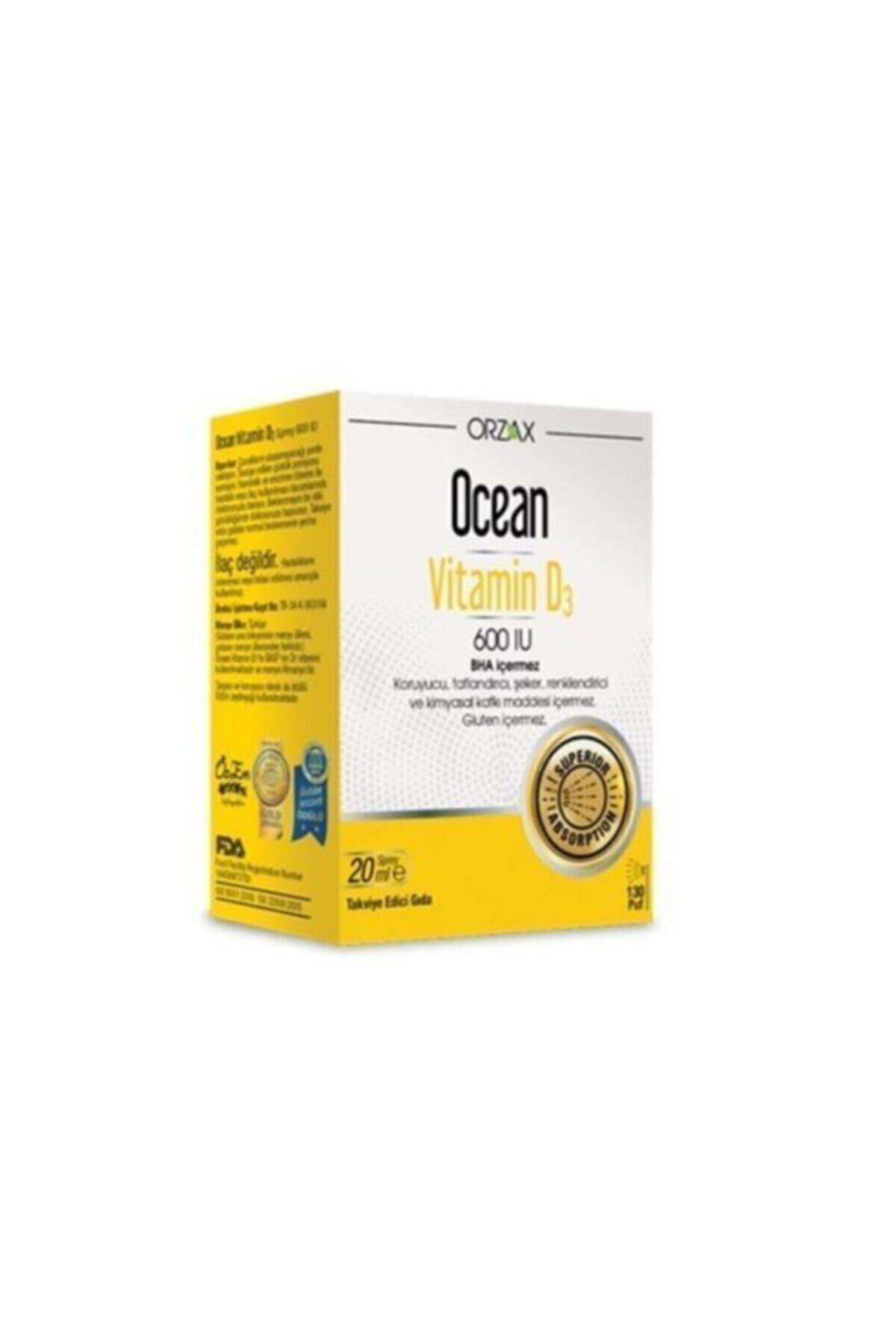 Ocean Vitamin D3 600 Iu Oral Sprey 20 ml 1