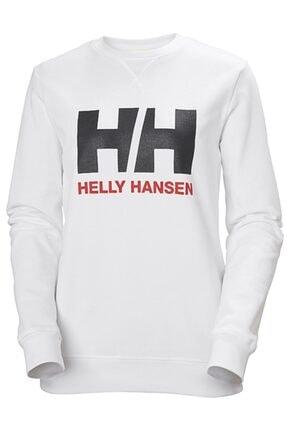 Helly Hansen Kadın Beyaz Logo Crew Sweat
