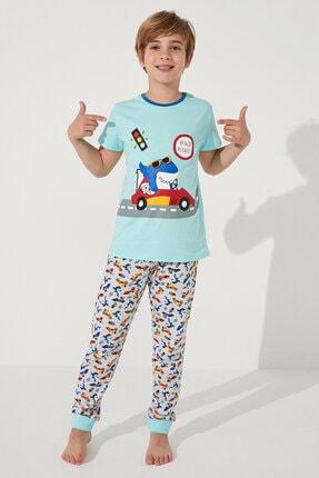 Penti Çok Renkli Boys Shark Race Ss 2li Pijama Takımı