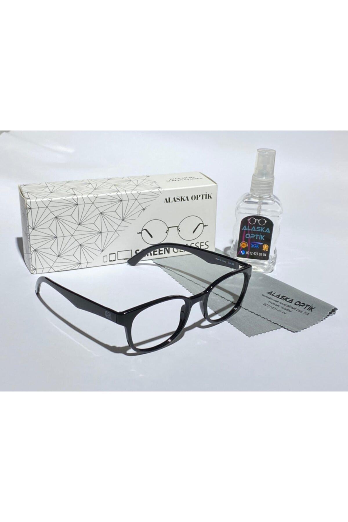 AlaskaEyewear Blue, Bilgisayar Telefon, Mavi Işık Korumalı Ekran Gözlüğü Büyük Boy Uv400, 2