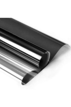 Newdizayn Dışarıdan Aynalı Içeriden Siyah Cam Balkon Filmi  75 cm X 3 Metre