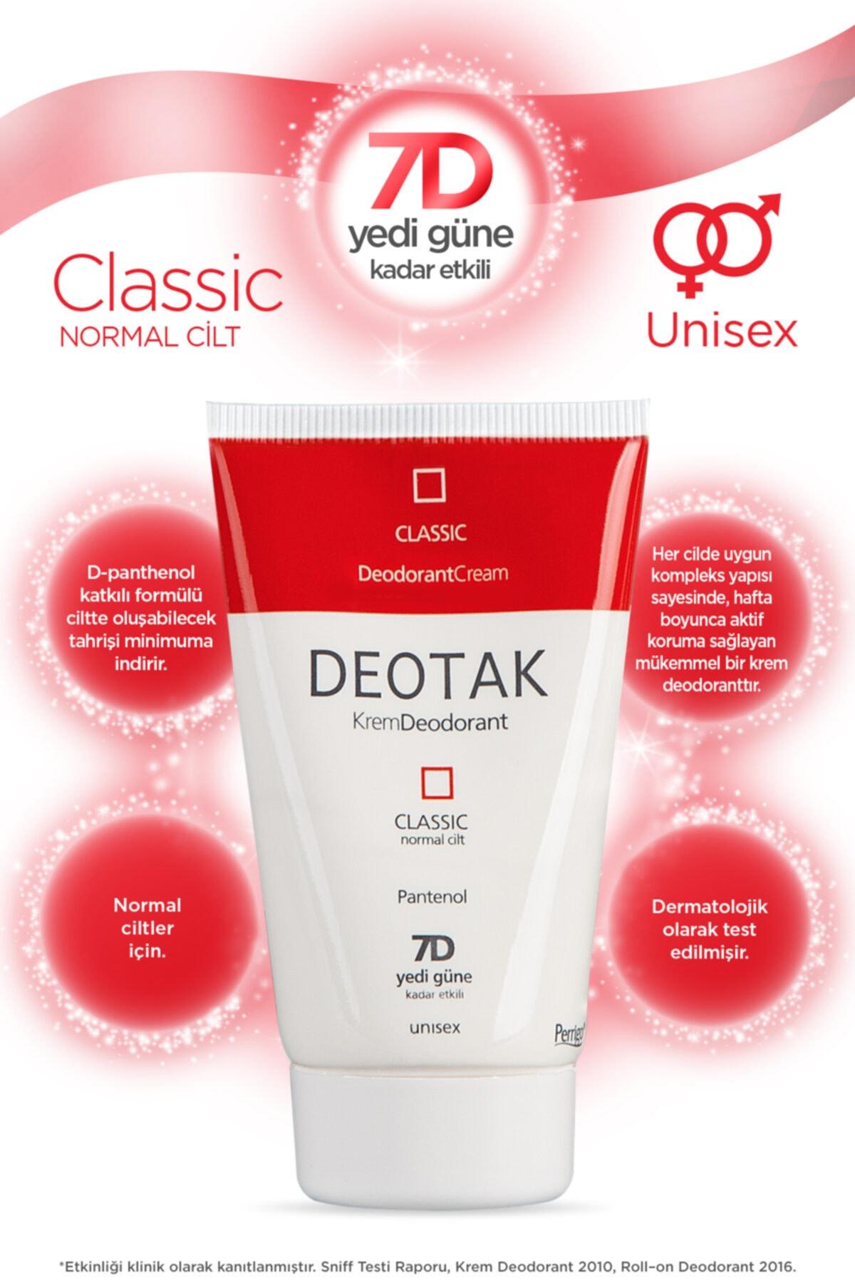 Deotak Normal Ciltler Için Klasik Krem Deodorant 35ml 2