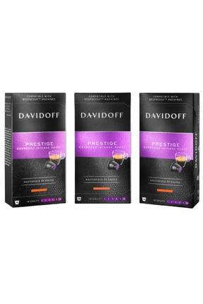 Davidoff Prestige Espresso Intense Roast Kapsül Kahve 3x10 Adet (NESPRESSO UYUMLU)