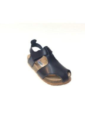 Toddler Unisex Çocuk Lacivert 8324 Doğal Deri Anatomik Mantar Tabanlı Sandalet 28-29