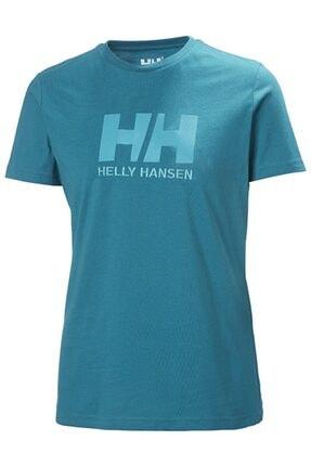 Helly Hansen Kadın Turkuaz Hh W Hh Logo T-shırt