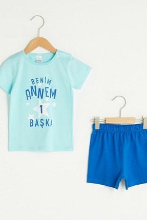 LC Waikiki Erkek Bebek Turkuaz M5V Pijama Takımı