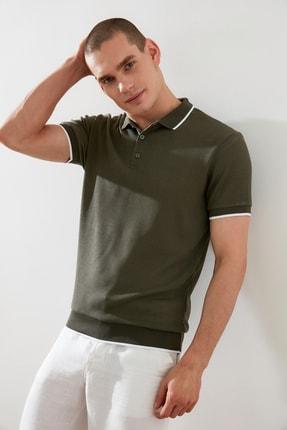 TRENDYOL MAN Haki Erkek Regular Fit Polo Yaka T-shirt TMNSS21PO0193
