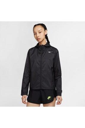 Nike Kadın Siyah Kapüşonlu Yağmurluk