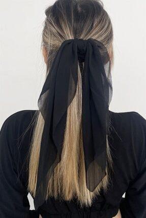 TAKIŞTIR Siyah Renk Fularlı Simit Toka