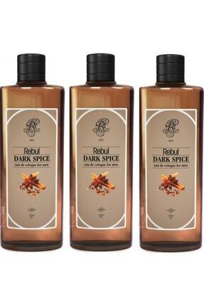 Rebul Dark Spice Kolonya 270ml X 3 Adet (CAM ŞİŞE)