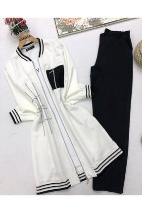 Camelya Fashion 3lü Krep Kumaş Takım