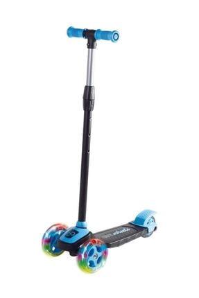 Furkan Toys Mavi Led Işıklı 3 Tekerlekli Yükseklik Ayarlı Scooter - Mavi